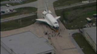 STS-130: Endeavour Rollover to VAB (time lapse)
