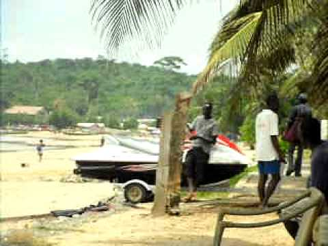 COOL BEACH OF GHANA, WEST AFRICA ( busua beach resort)