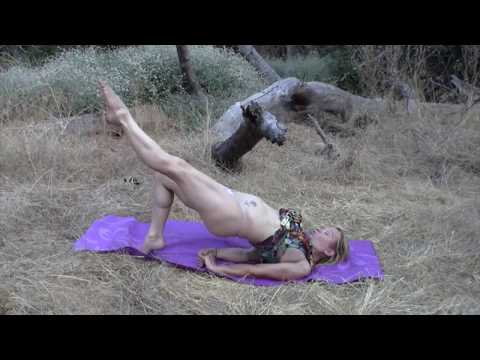 NEARLY NUDE YOGA BY MAREN  LEG STRETCHES