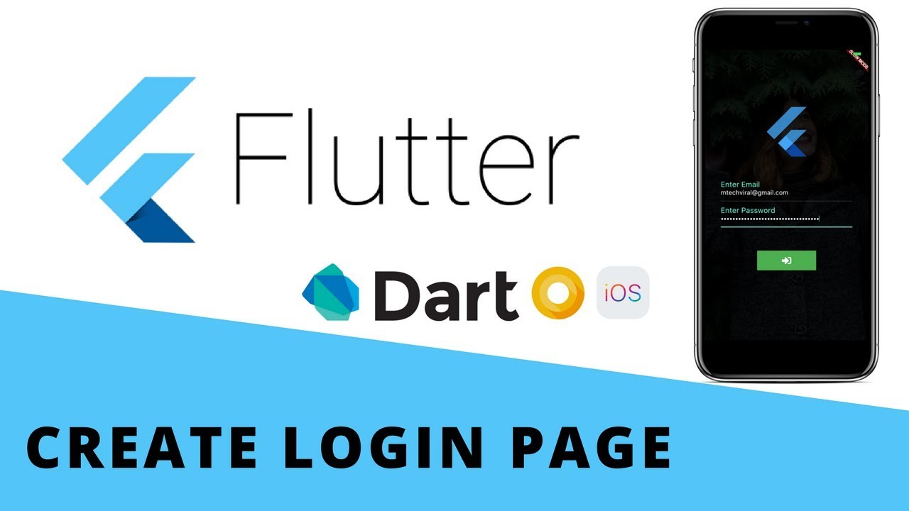 Flutter Create Beautiful Animated Login Page For Android & iOS From Scratch | Beginners