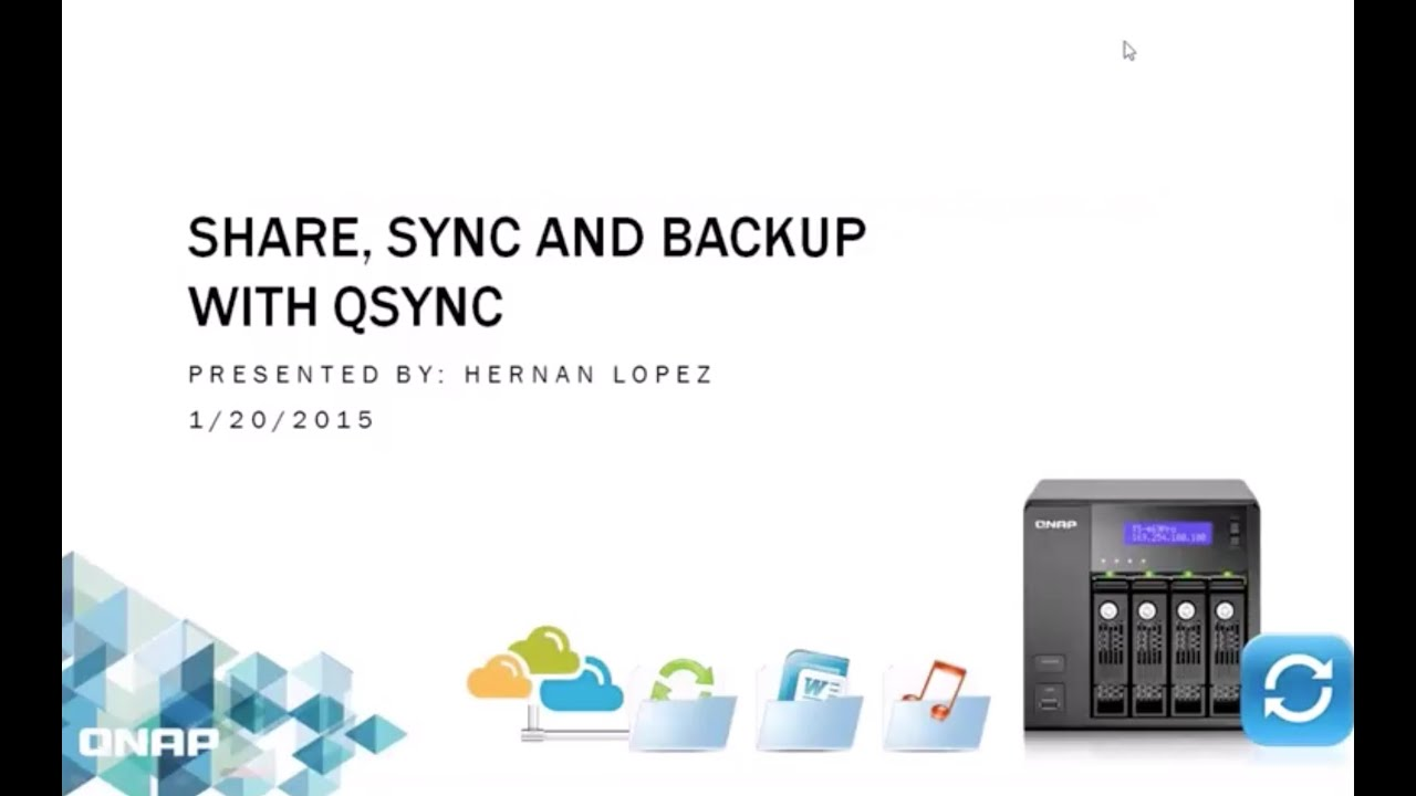 Share, sync, and backup with Qsync
