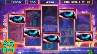 Sumatran Storm Slot Machine Max Bet Bonus Won w/RETRIGGER  !  Live Slot Play w/MAX BET