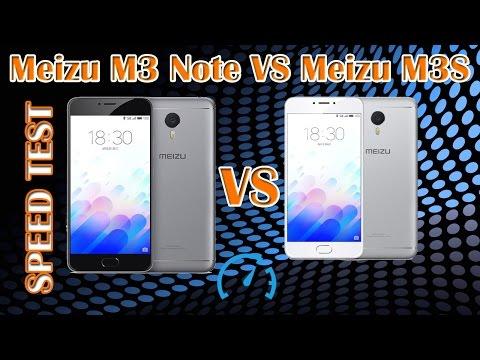 Speed Test Meizu M3 Note vs Meizu M3S (сравнение скорости работы)