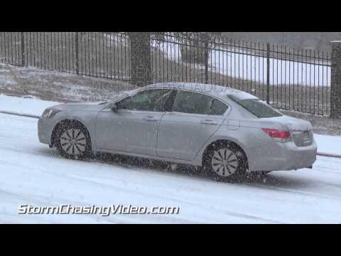 2/12/2014 Raleigh, NC Snow Storm & Wrecks