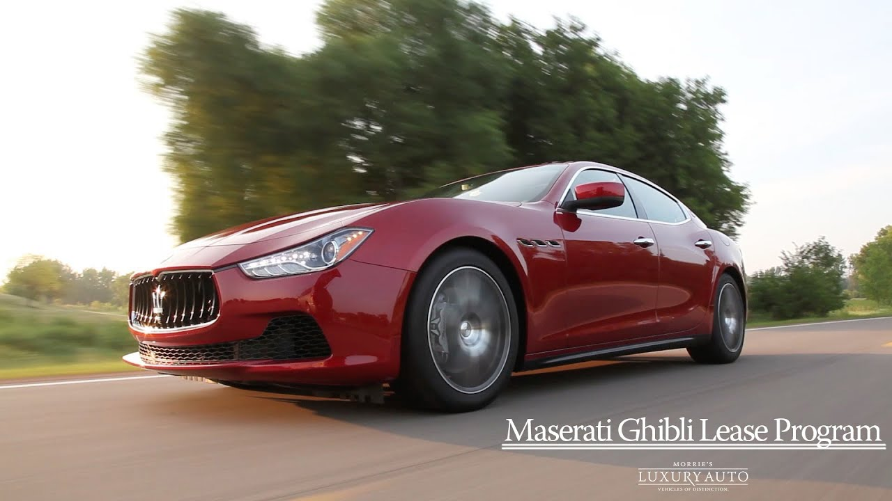 Maserati Ghibli Lease Promotion   $599 Lease Special   Morrie's ...