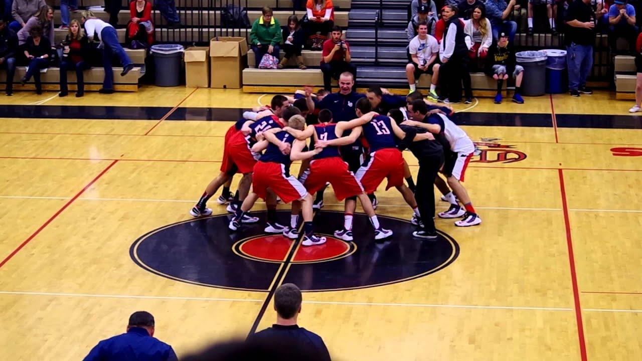 Lake Oswego High School Basketball Pre-Game Huddle - YouTube