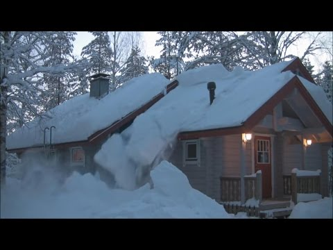 Removing Snow from Roof with Rope