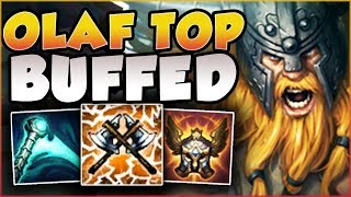 NEED FREELO?? ABUSE THIS BUFFED OLAF TOP BUILD BEFORE NERFS HIT! OLAF TOP GAMEPLAY League of Legends
