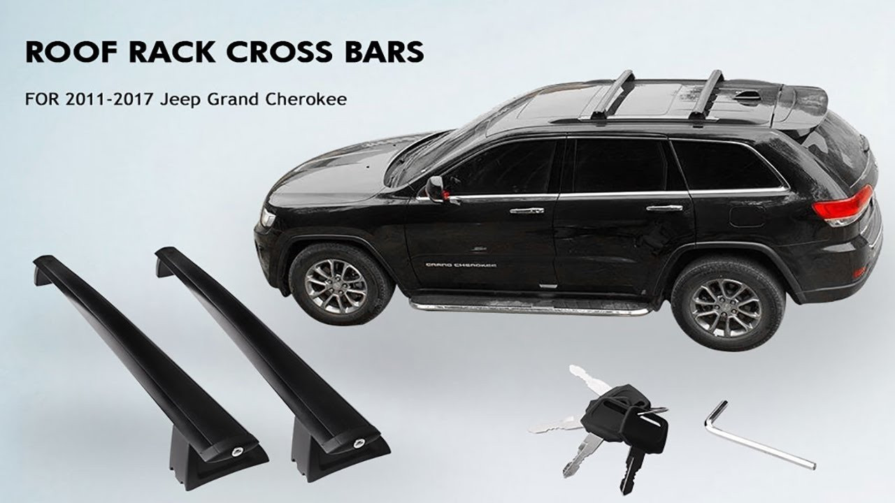 unboxing install upgraded roof rack cross bars for 2011 2018 jeep grand cherokee yitamotor
