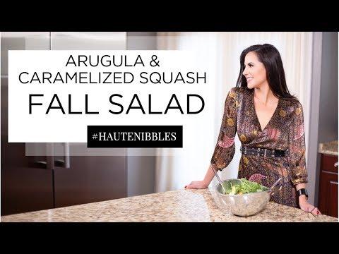 Arugula and Caramelized Squash Fall Salad Recipe // Karina Heinrich