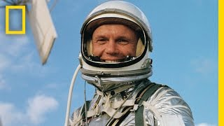 remembering john glenn see footage of his legendary first orbit of the earth   national geographic