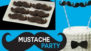 MUSTACHE Party Ideas - Brownies, Tuxedo Cake DIY & Cupcakes | Sweet Styling with Elise Strachan
