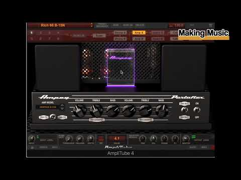 IK Multimedia Ampeg SVX2 (for AmpliTube 4) Demo & Review