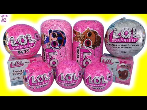 LOL Surprise Dolls WAVE 2 1 Under Wraps Bling Series Eye Spy 4 Finders Keepers PETS Unboxing Toys