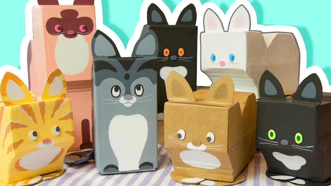 DIY Decorate your Room with Cats - Cardboard Crafts to ...