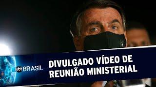 Em reunião, Bolsonaro e ministros criticam STF, governadores e imprensa   SBT Brasil (22/05/20)