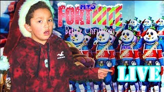 🍩 Fortnite Christmas LIVE Gameplay with fans Kid Gamer MinetheJ Slushy Soldier Skins No Profanity