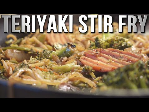 High Volume, Low Calorie Veggie Teriyaki Noodle Stir Fry Recipe