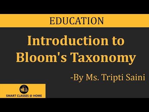 Bloom's Taxonomy B.Ed., B.Sc., M.Sc. Lecture by Mrs.Tripti Saini