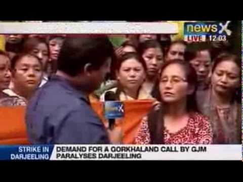 NewsX: GJM activists protest in Delhi for Gorkhaland