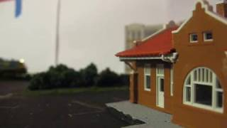 Update on the N-scale Switching Layout(scenery added)