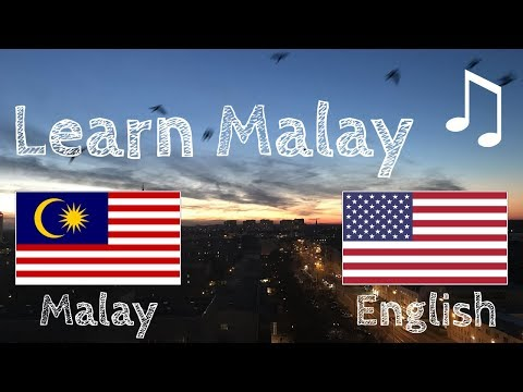 Learn before Sleeping - Malay (native speaker)  - with music