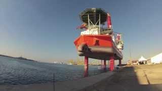 full height jackup vessel