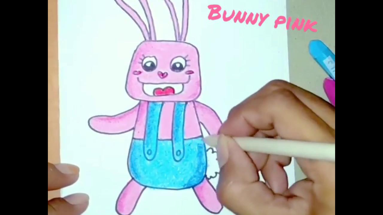 Menggambar Dan Mewarnai Karakter Kelinci Lucu Youtube