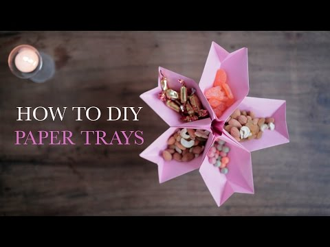 How to DIY Paper Trays   Homemade Paper Trays   StyleIndi   Indi In The City