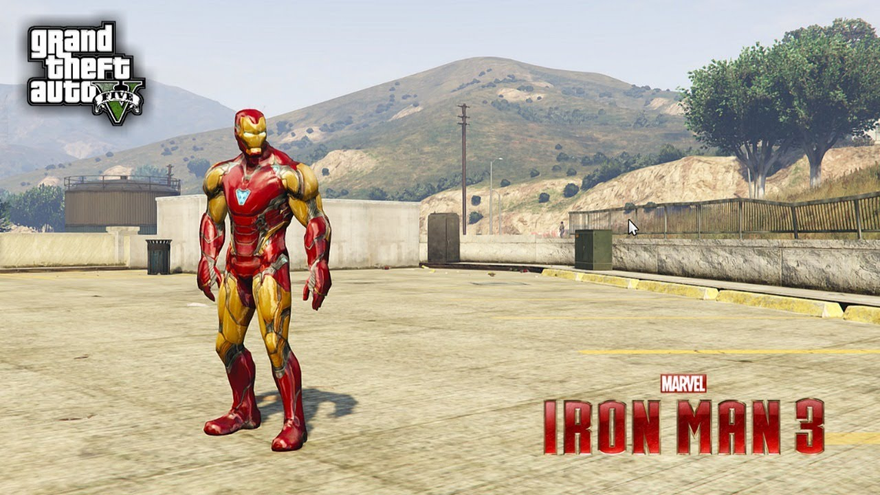 IRON MAN END GAME TONY STARK MANSION MOD GAMEPLAY - GTA 5 MOD