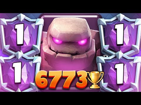 BEST GOLEM PLAYER EVER? 6773 Trophies #1 Deck | 2nd Most Trophies of ALL TIME!