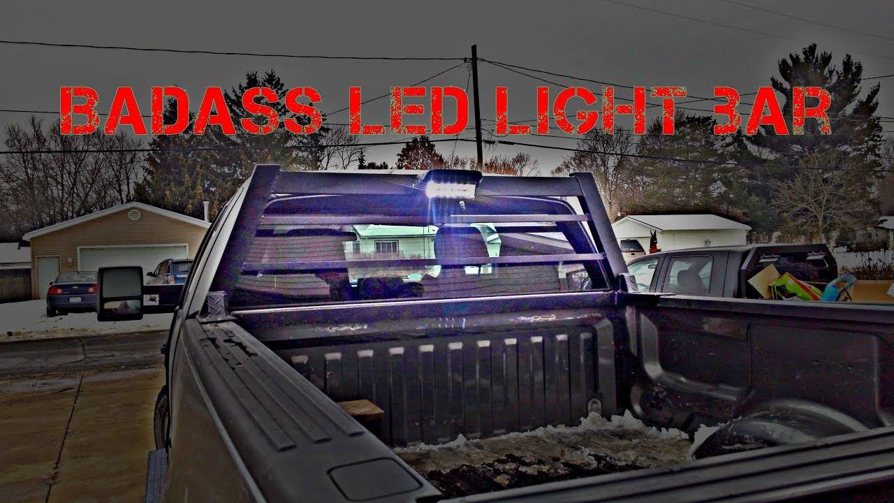 f150 back rack dwvo led light bar