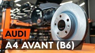 Kako zamenjati Zavorni kolut A4 Avant (8E5, B6) - video priročniki po korakih