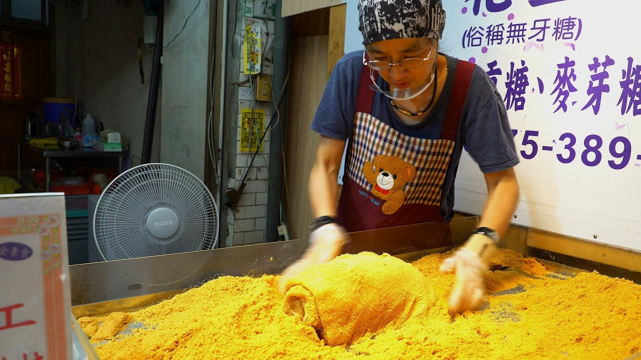 Manual stacking layer by layer! Malt Peanut Candy 麥芽花生糖║Taiwan Street Food