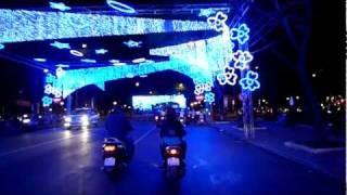 lunar new year 2012 - street decorations led lights district 1 hcmc saigon vietnam