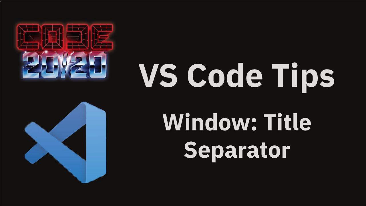 Window: Title Separator