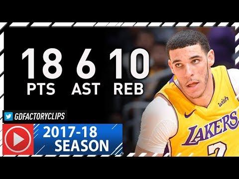 Lonzo Ball SICK Full Highlights vs Spurs (2018.01.11) - 18 Pts, 10 Reb, 6 Ast, 4 Stls