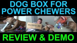 BULLYMAKE Dog Toys Treats for Power Chewers Monthly Box Subscription