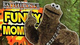 Star Wars Battlefront 2 Funny & Random Moments [FUNTAGE] #43 - Cookie Monster In SWBF2!