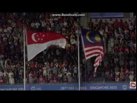 Closing Ceremony 28th Sea Games Singapore 2015: Malaysia National Anthem ''Negaraku'' In Singapore
