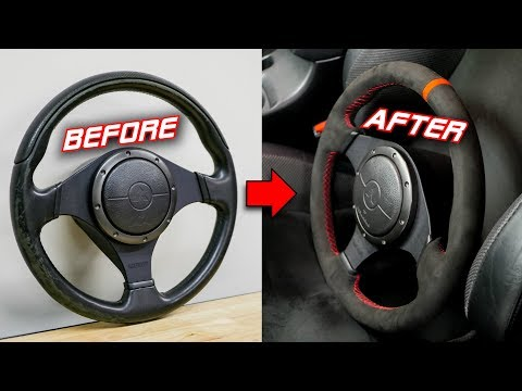AMAZING Steering Wheel Transformation With Micro-Suede Rewrap | Install & Review