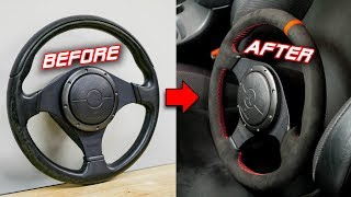 AMAZING Steering Wheel Transformation with Micro-Suede Rewrap   Install & Review