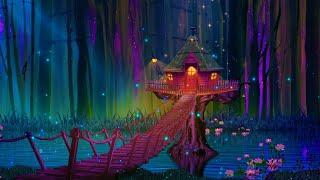 Magical Night 💜 Soft Calming Sleep Music | Peaceful Deep Sleeping 🎵 Meditation Healing Music screenshot 1