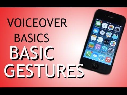 iOS Voiceover Basic Gestures