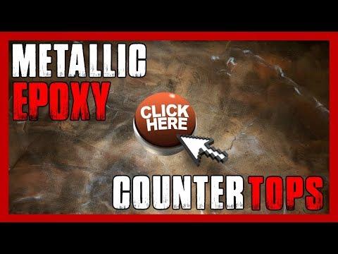 Metallic Epoxy Countertops   Metallic Epoxy Kitchen/Bartop Resurfacing