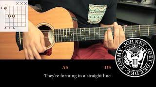 como tocar blitzkrieg bop de the ramones tutorial guitarra tab hd