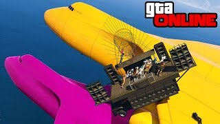 GROUP STUNTS GONE WRONG! || GTA 5 Online || PC (Funny Moments)