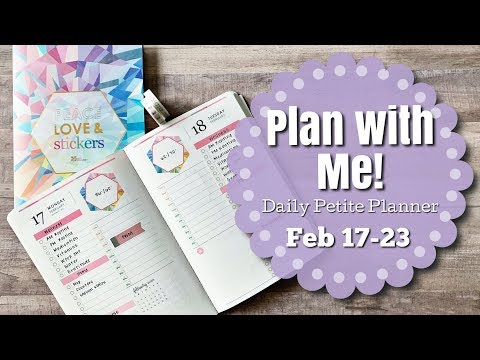 PLAN WITH ME! | DAILY PETITE PLANNER | Erin Condren
