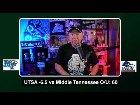 UTSA vs Middle Tennessee 9/25/20 Free College Football Pick and Prediction  CFB Tips