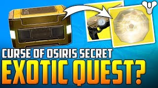 Destiny 2 - Secret EXOTIC QUESTLINE? MERCURY Hidden Chest Location - Curse Of Osiris Expansion News